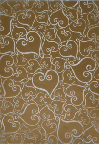 A4 - Translucent / Vellum - Patterned - Tiffany Hearts - Gold - Click here to choose colour