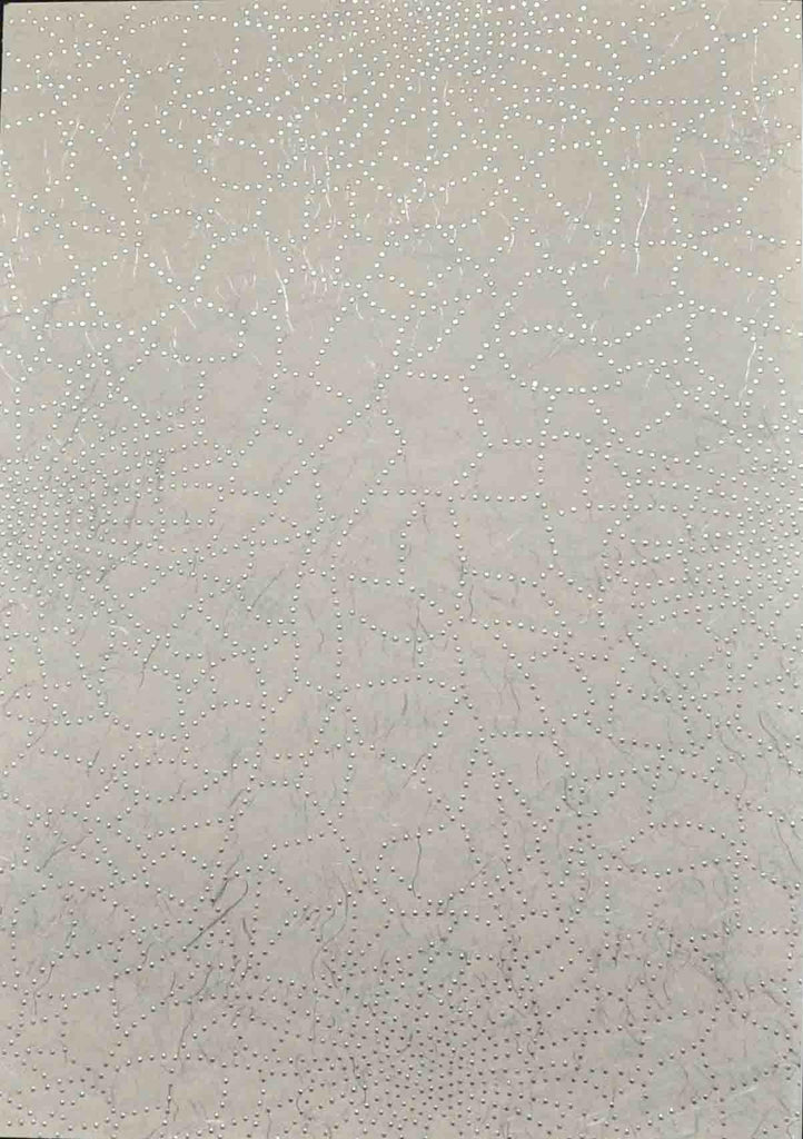 A4 - Patterned - Chiffon Precious Metals (Embossed) - Cobweb - Silver
