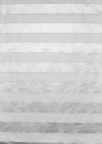 A4 - Handmade Papers - Mulberry - Silver / White Stripe