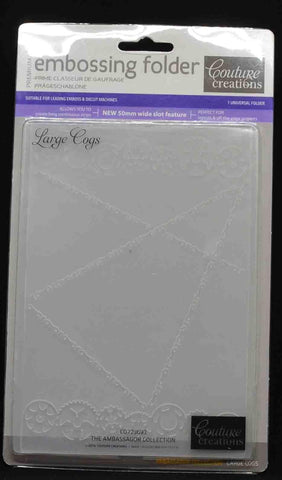 Specials - LAST ONE Embossing Folder - Couture Creations - Large Cogs