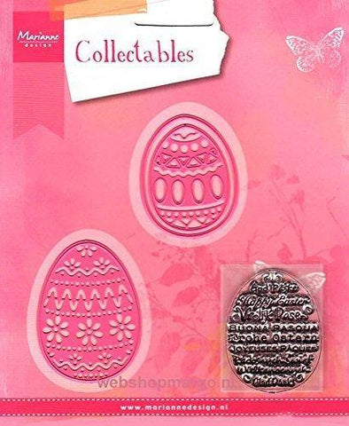 Dies - Marianne Designs Collectables - Easter Eggs (with words stamp)