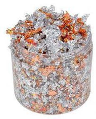 Bling - Cosmic Shimmer - Gilding Flakes - Red Speckle (Silver)