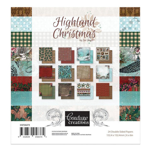 6 x 6 - Patterned - Paper Pad - Highland Christmas