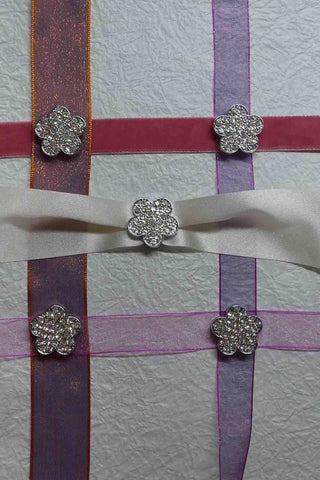 Bling - Buckles - Diamond Diamante Pave Flowers