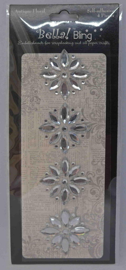 Bling - Diamantes - Coloured - Antique Floral - Click here to select colour
