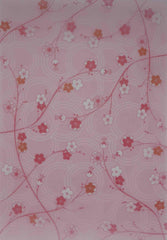 A4 - Translucent / Vellum - Patterned - Japanese cherry Blossom - Pink, White