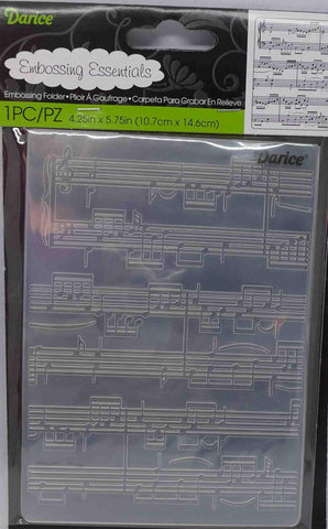 Embossing Folder - Darice - Music