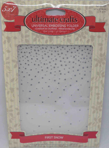 Embossing Folder - Ultimate Crafts - First Snow