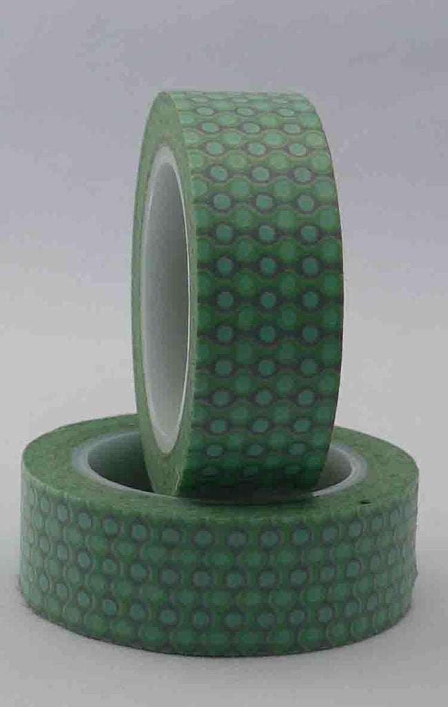 Washi Tape - Chains - Grey on Mint (Green)