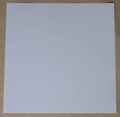 12 x 12 - Plain - Embossed - White Dots
