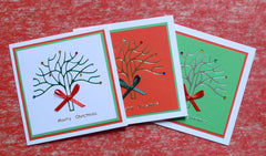 Ready Made Cards - Foil Tree - Click here to choose colour