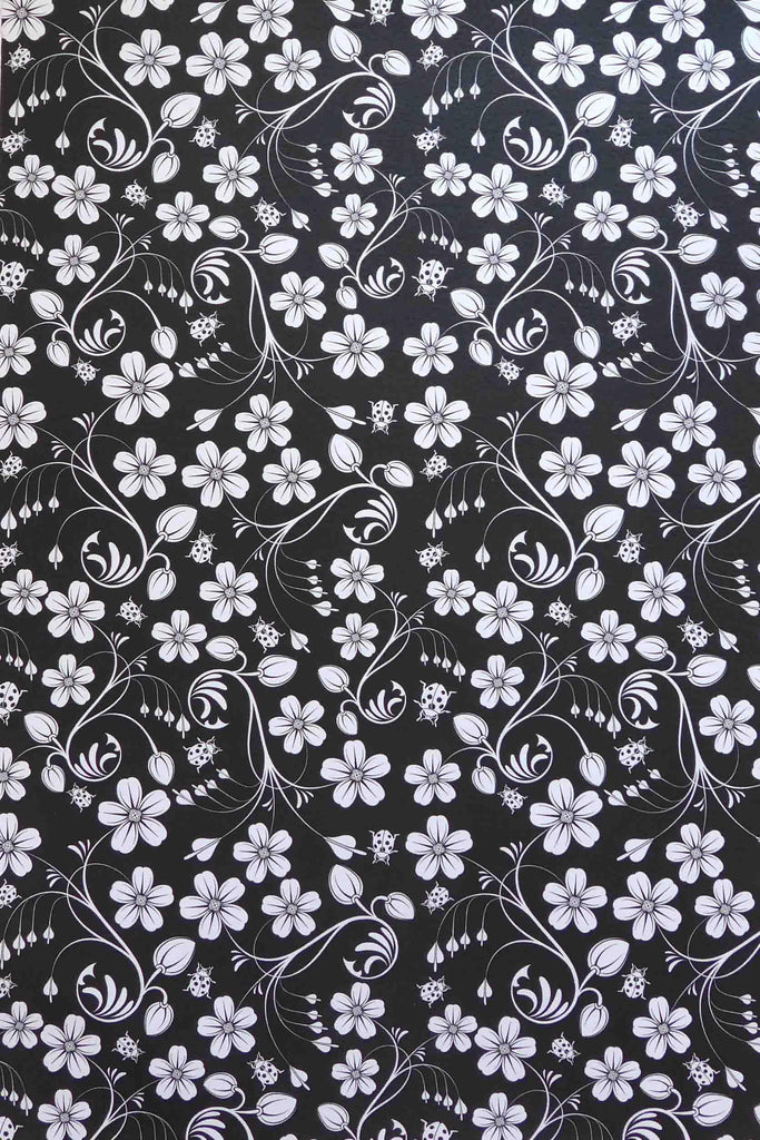 A4 - Patterned - Metallic Floral Spring Garden - Click here to choose colour