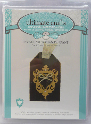 Dies - Ultimate Crafts - 3 in 1 - Invali: Victorian Heart Pendant