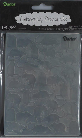 Embossing Folder - Darice - Mice and Door
