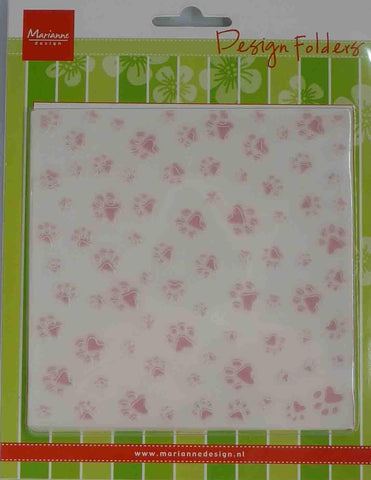 Embossing Folder - Marianne Design - Square - Small Paws