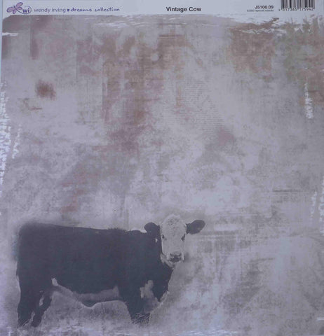 12 x 12 - Patterned - Animals -Vintage cow