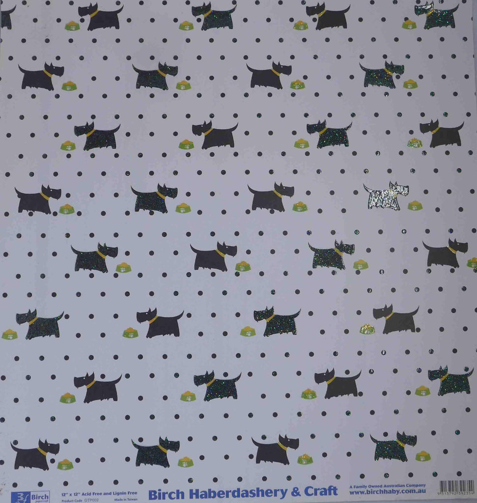 12 x 12 - Patterned - Animals - Scotty Dog