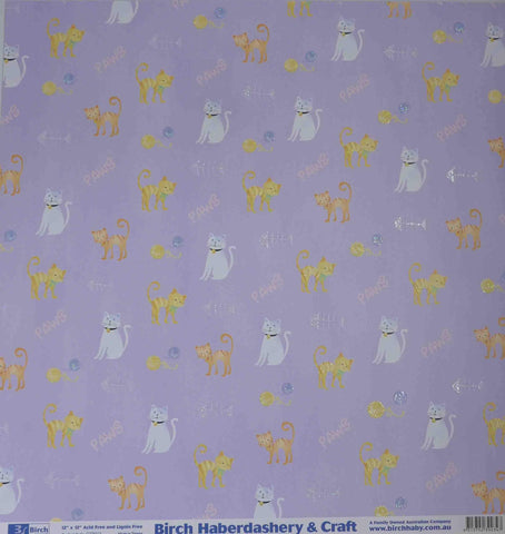 12 x 12 - Patterned - Animals - Cats & Paws