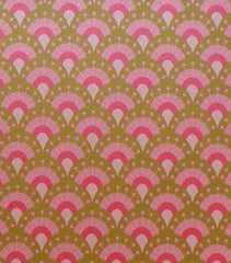 A4 - Patterned - Metallic Parisian Princess - Pink / Gold