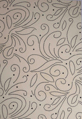A4 - Patterned - Chiffon Precious Metals (Embossed) - Flourish - Cream / Black