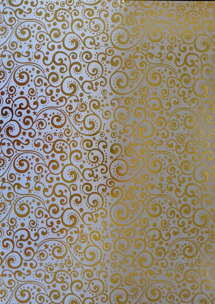 A4 - Patterned - Alison Ellis - Simply Christmas Foil Swirls