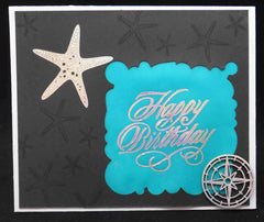 Hotfoil Stamps - Couture Creations - Starfish