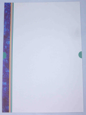 A4 - Letterhead - Blue Marbled Lines