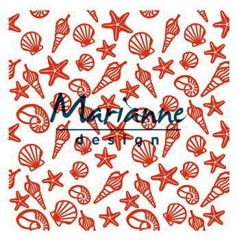 Embossing Folder - Marianne Design - Square - Shells and Starfish