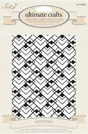 Embossing Folder - Ultimate Crafts - Ritz Geometric