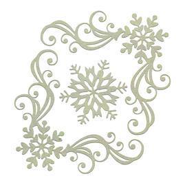 Ephemera - Chipboard - Snowflake Corners