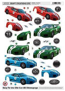Ephemera - Craft Creations - 3D Pop Out Pictures - Cars