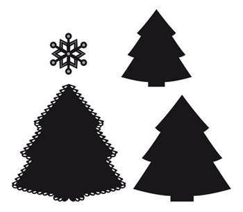 Dies - Marianne Designs Craftables - Christmas Tree and Snowflake Set