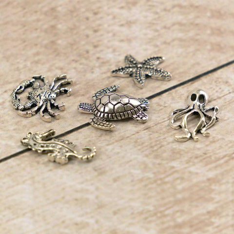 Charms - Metal - Ultimate Crafts - Ocean Creatures