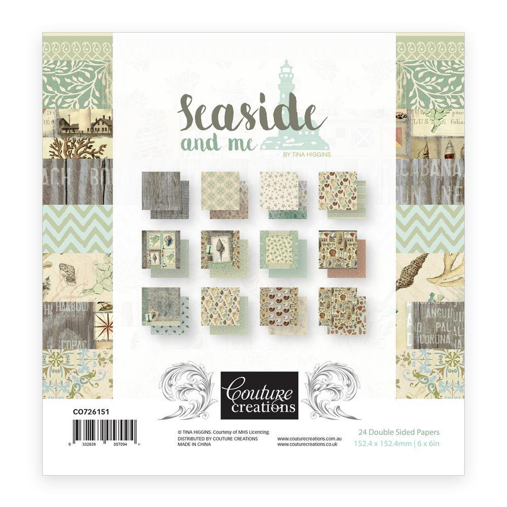 6 x 6 - Patterned - Paper Pad - Seaside and Me