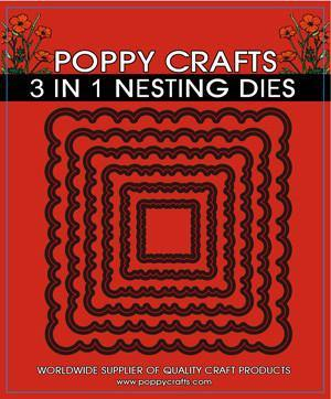 Dies - Poppy Crafts - Nesting Scalloped Square (3 in 1)