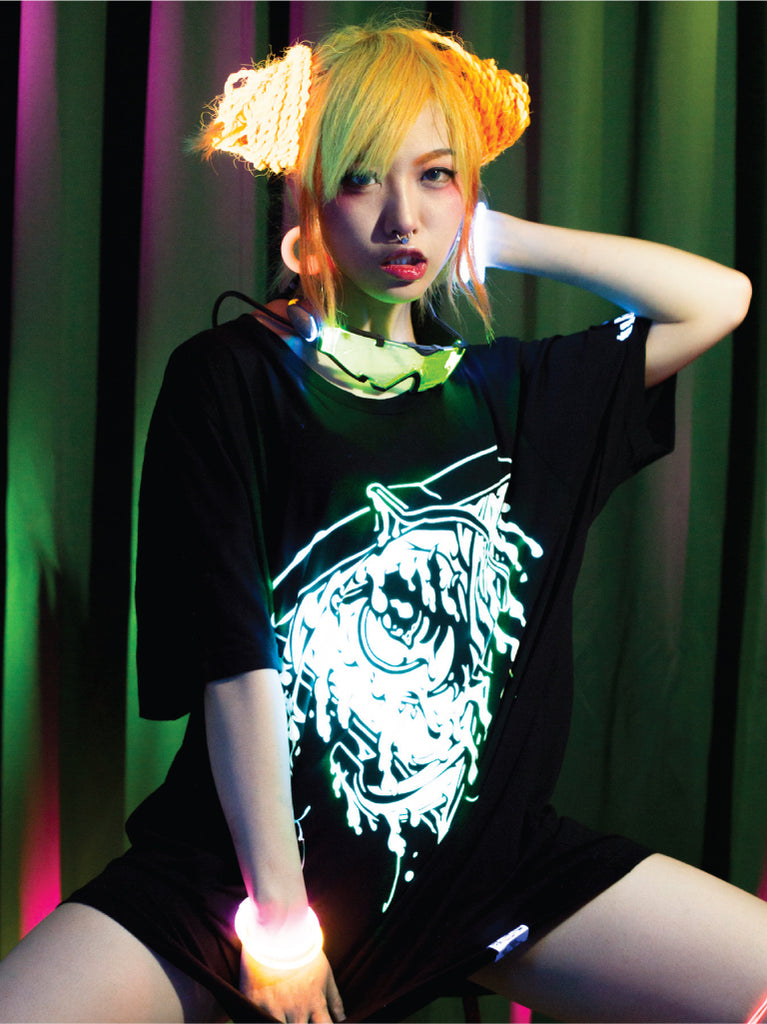 Melty Mason Glow-in-the-Dark TShirt・メルティーメイソン蓄光Tシャツ -  Shirt - Invasion Club