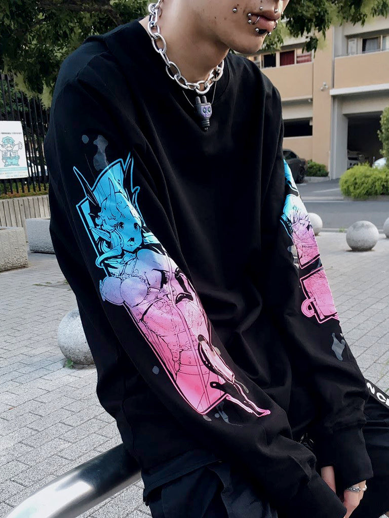 Hentai Splatter Long Tee -  Shirt - Invasion Club