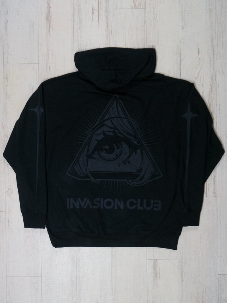 Black × Black Animason Hoodie -  Outerwear - Invasion Club