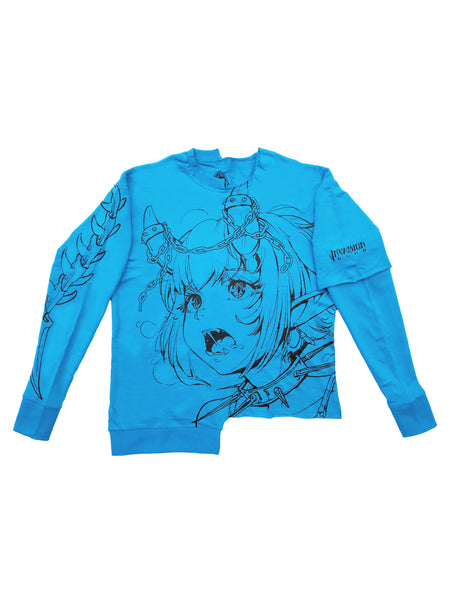 Attention Starved - Asymmetrical Shirt (Blue)