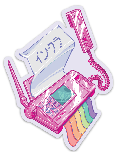 Pink Fax Sticker -  Sticker - Invasion Club