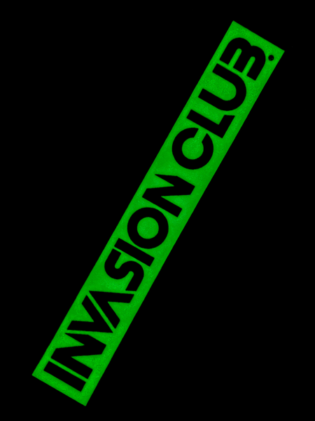 Invasion Club Glow-in-the-Dark Sticker