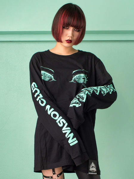 Eyes Long Tee・めめロンT -  Shirt - Invasion Club