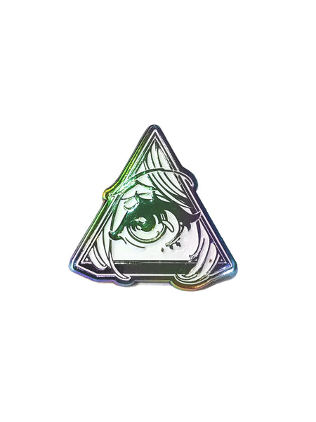 Animason Rainbow Metal Glow in the Dark Enamel Pin