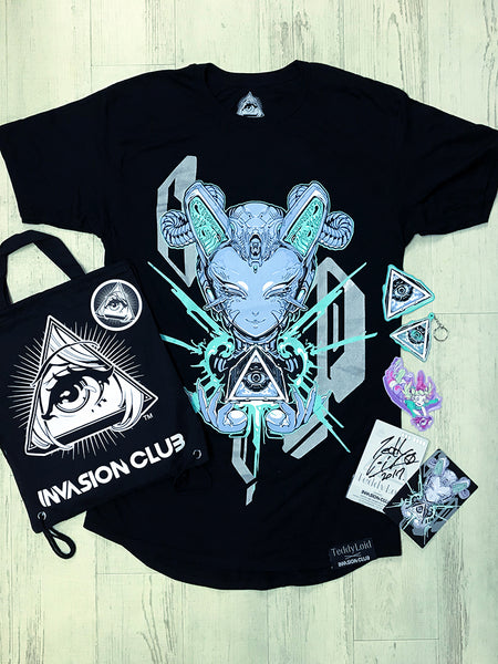 TeddyLoid ✖ INVASION CLUB Limited Edition Set 限定コラボセット -  Shirt - Invasion Club