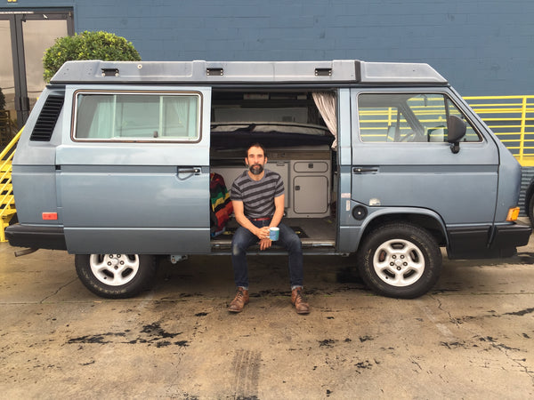 Timothy Hogan and his Westfalia