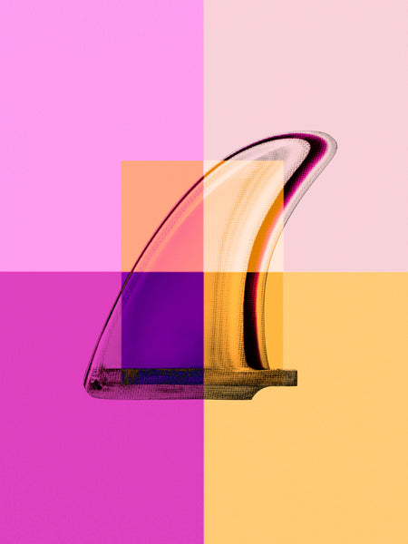 Fine Art Print - Interaction: Magenta Single Fin