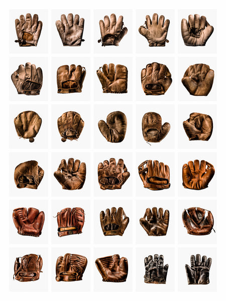 Fine Art Print - 30 UP BASEBALL GLOVE GRID