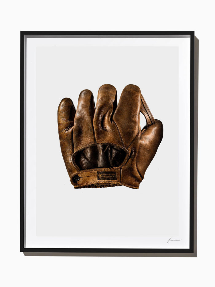 Fine Art Print - 1920's Vintage Abercrombie And Fitch Baseball Mitt