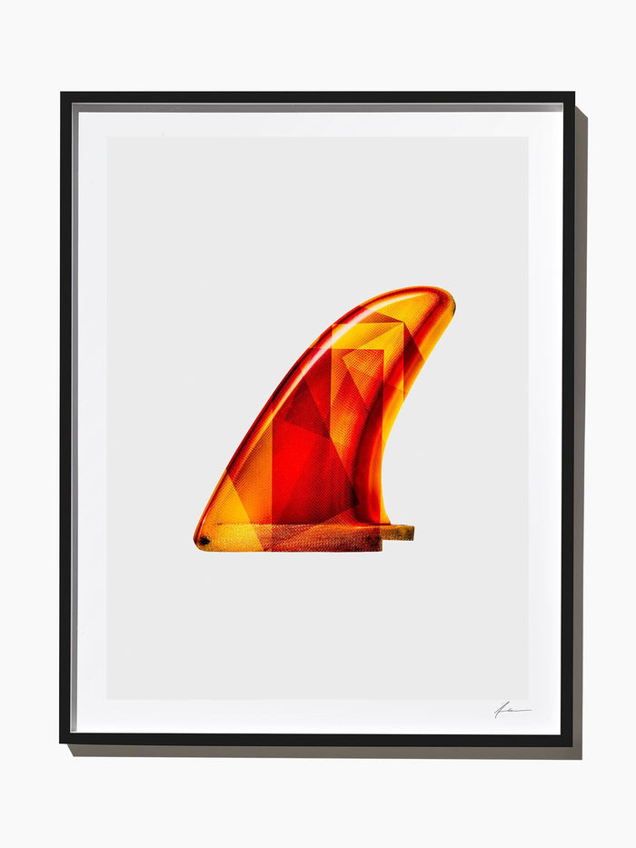 Fine Art Print - Interaction: Yellow / Orange Brewer Single Fin