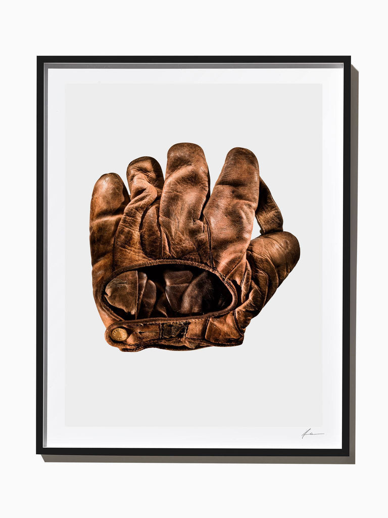 Fine Art Print - J.A. Peach U.S. Army Baseball Glove From World War 1, Back View